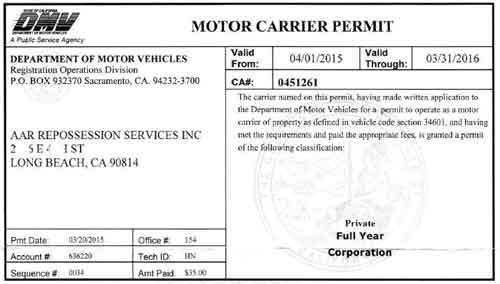 ca motor carrier permit